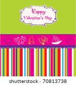 vintage valentine's day card | Shutterstock .eps vector #70813738