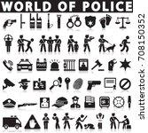 justice  law  police vector... | Shutterstock .eps vector #708150352
