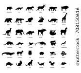 Big Set Of Animals Silhouette....
