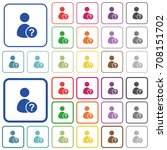 unknown user color flat icons...   Shutterstock .eps vector #708151702