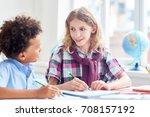 elementary schoolboys making...   Shutterstock . vector #708157192