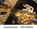 street food festival. grilled... | Shutterstock . vector #708158842