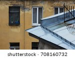 roofs of old houses  covered... | Shutterstock . vector #708160732