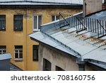 roofs of old brick houses ... | Shutterstock . vector #708160756