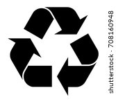 recycle vector isolated symbol... | Shutterstock .eps vector #708160948