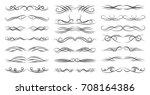 calligraphic black and elegant... | Shutterstock .eps vector #708164386