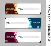 vector abstract design banner...   Shutterstock .eps vector #708174112