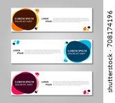 vector abstract design banner... | Shutterstock .eps vector #708174196