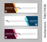 vector abstract design banner... | Shutterstock .eps vector #708174538
