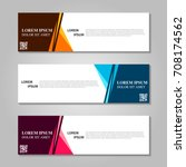 vector abstract design banner... | Shutterstock .eps vector #708174562