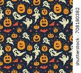 Vector Halloween Seamless...