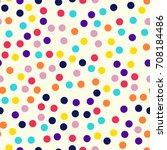 memphis style polka dots... | Shutterstock .eps vector #708184486
