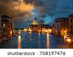 grand canal with basilica santa ... | Shutterstock . vector #708197476