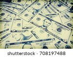 dollar bills background. mixed... | Shutterstock . vector #708197488
