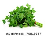 a bunch of parsley on a white... | Shutterstock . vector #70819957