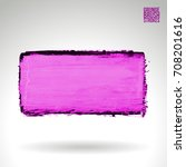 purple brush stroke and texture.... | Shutterstock .eps vector #708201616
