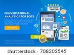 chatbot business concept.... | Shutterstock .eps vector #708203545