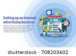 setting up and analytics of...   Shutterstock .eps vector #708203602