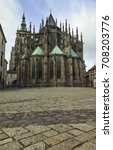 saint vitus cathedral in prague | Shutterstock . vector #708203776
