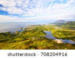 fishing village kabelvag from... | Shutterstock . vector #708204916