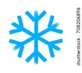 snowflake vector symbol ... | Shutterstock .eps vector #708206896