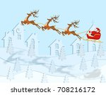 new year christmas. a drawing... | Shutterstock .eps vector #708216172