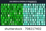 grren  emerald chrome gradient... | Shutterstock .eps vector #708217402