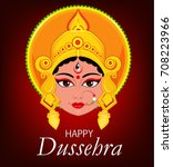happy dussehra greeting card.... | Shutterstock .eps vector #708223966