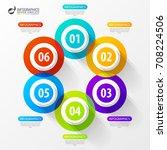 modern infographic options... | Shutterstock .eps vector #708224506