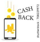 refund. cash back service. gold ... | Shutterstock .eps vector #708229972