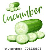 cucumber. cartoon vector icon... | Shutterstock .eps vector #708230878