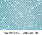 texture of ice surface.... | Shutterstock .eps vector #708233878