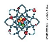 isolated atom design | Shutterstock .eps vector #708235162