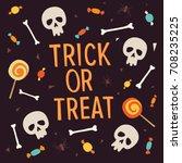 elements halloween. inscription ... | Shutterstock .eps vector #708235225