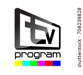 television with an inscription... | Shutterstock .eps vector #708238828