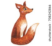 watercolor fox | Shutterstock . vector #708242866