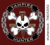 vampire hunter symbol vector | Shutterstock .eps vector #708252052