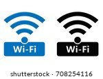 wireless and wifi icons.... | Shutterstock .eps vector #708254116