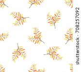 seamless vector pattern with... | Shutterstock .eps vector #708257092