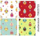 set of funky seamless pattern... | Shutterstock .eps vector #70825723