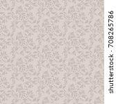 floral seamless pattern.... | Shutterstock .eps vector #708265786