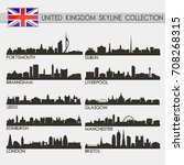 most famous uk united kingdom... | Shutterstock .eps vector #708268315