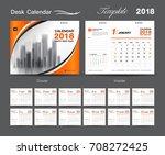 set desk calendar 2018 template ...   Shutterstock .eps vector #708272425