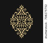 ornamental floral element for... | Shutterstock .eps vector #708275752