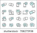 set of message related. simple...   Shutterstock .eps vector #708275938