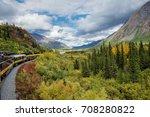 alaska railroad traveling... | Shutterstock . vector #708280822