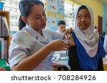 kota kinabalu  malaysia may 25  ... | Shutterstock . vector #708284926