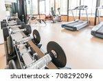blur gym background fitness... | Shutterstock . vector #708292096