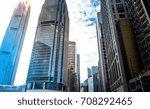 modern office building detail ... | Shutterstock . vector #708292465