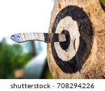 throwing knives in the open air ... | Shutterstock . vector #708294226